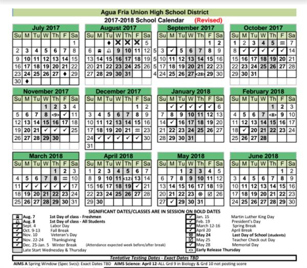 District Information / School Year Calendar