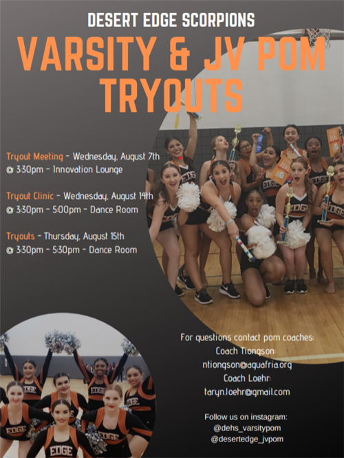 Upcoming Tryouts