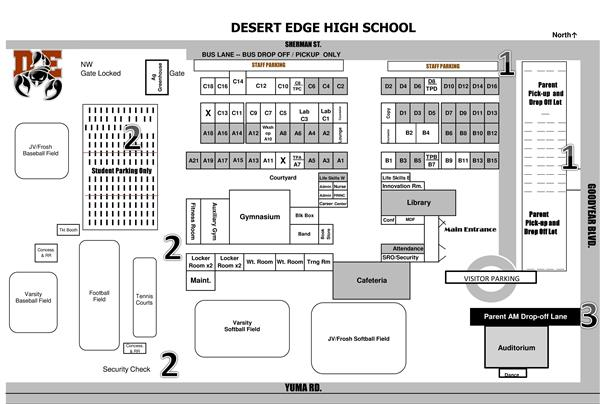 Desert Edge Parking Lot map