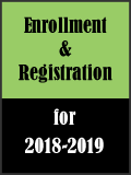 Enrollment and Registration Information for 2018-2019